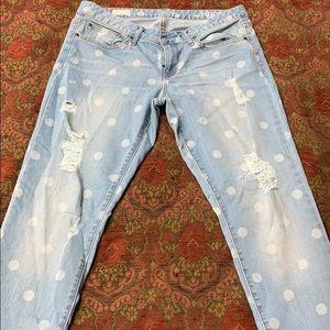 Gap polka dot skinny 12 jeans, special edition